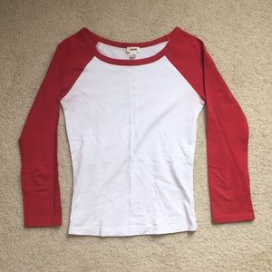 Red baseball style long sleeve
